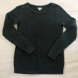 Old Navy Green Cable Knit Sweater - M